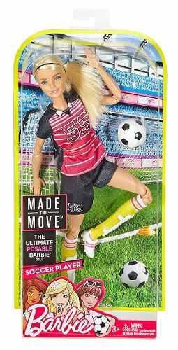 Barbie Made To Move 2 Modelos Futbol- Dancer Nueva Mattel