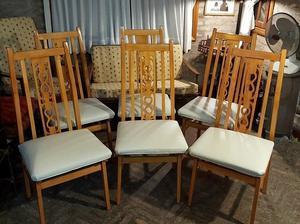 Juego de 6 sillas americanas respaldo alto