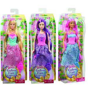 Muñeca Barbie Reino De Peinados Mágicos