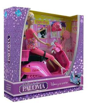 Muñeca Paloma Y Su Scooter - El Duende Azul