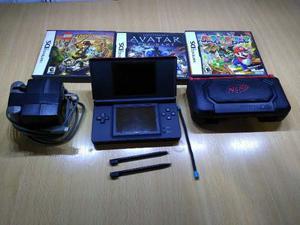 Nintendo Ds Lite + 3 Juegos Originales + Funda