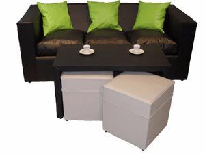 Oferta Entrega Inmediata Sofa 3 Cuerpos Eco Cuero