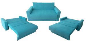 Sofa Cama 2 Cuerpos Bi Cama Chenille Nuevo
