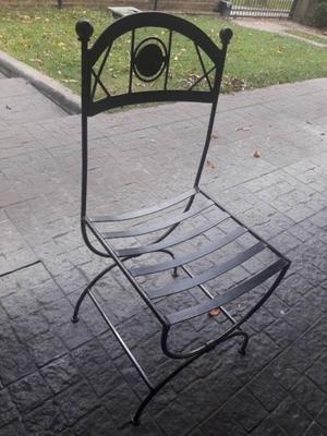 Vendo seis sillas de hierro forjado