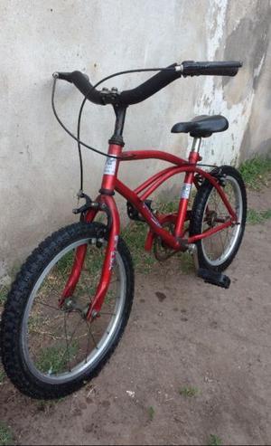 Bicicleta Playera Rodado 16 (niño) Con Rueditas