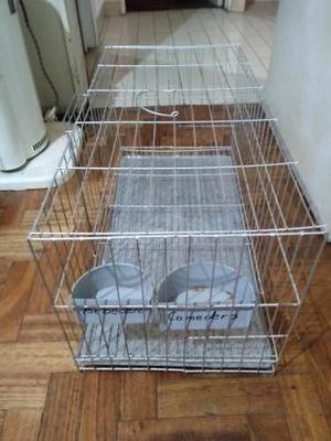 Jaula Para Mascota Usada Con Puerta Y Traba De Seguridad