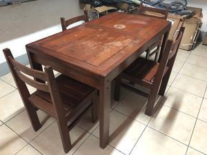 Juego de mesa de comedor con seis sillas