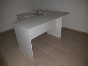 Vendo ESCRITORIO PC en L blanco y mueble de archivo con