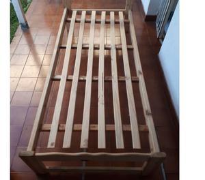 Vendo cama + colchon 1 plaza