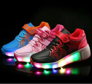 Zapatillas con Rueditas y Luces Led
