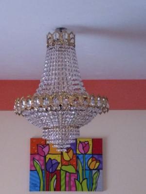 araña bronce imperio 13 luces