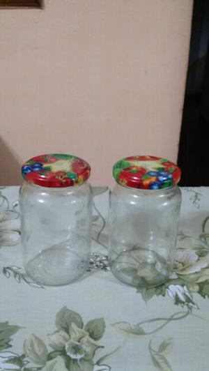 Frascos de vidrio con tapa