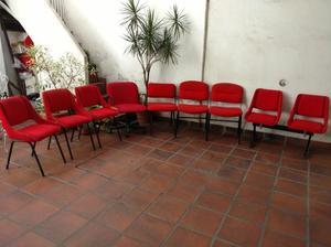 Lote de sillas y sillón para oficina