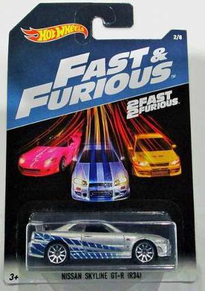 Auto Hot Wheels Nissan Skyline Gt-r (r34) Fast Furioso Rdf1