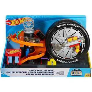 Hot Wheels Set Vueltas Extremas Super Spin Tire Shop Mattel