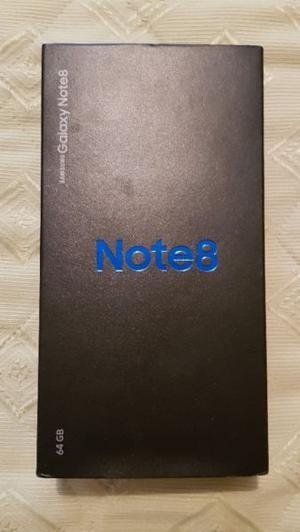 Samsung galaxy note 8 libre nuevo en caja completo + funda