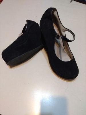 Zapatos gamuza mujer, modelo Guillermina con taco 12 cm