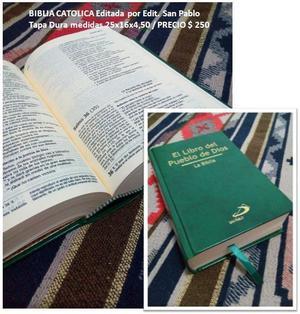 Biblia Catolica El Libro del Pueblo de Dios Edit San Pablo