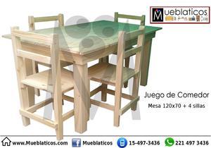 JUEGO DE COMEDOR..Mesa y 4 sillas!!