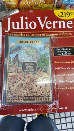 libro nuevo tapa dura JULIO VERNE 20 MIL LEGUAS DE VIAJE