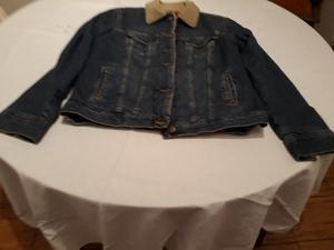 Campera jean con corderito