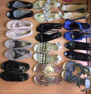 Lote de 13 pares de zapatos- variado talle 36