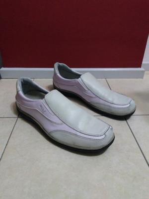 25bd76fa72e8 Zapatos hombre informal cuero color blanco crema número 45
