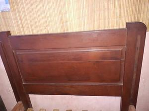 vendo cama de 1 plaza madera de algarrobo