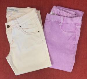 2 Pantalones Nena Zara y Materia Talle