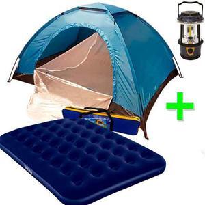 Carpa Camping 6 Personas + Colchon 2 Plazas + Luz De Regalo