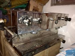 Maquina de cafe express de 3 bocas con molinillo