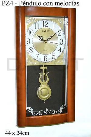 Reloj De Pared Dakot C/ Pendulo Y Soneria Plaza Once!oferta