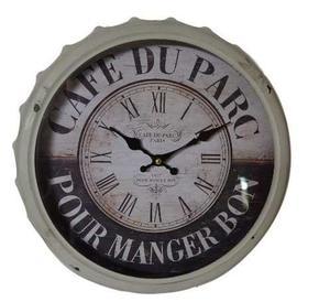 Reloj de pared falso cuero vintage decoupage posot class - Reloj de pared vintage ...