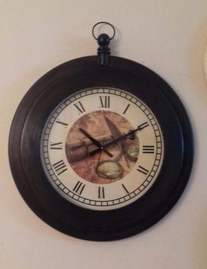 Reloj Grande De Pared Estilo Vintage 65 Cms.