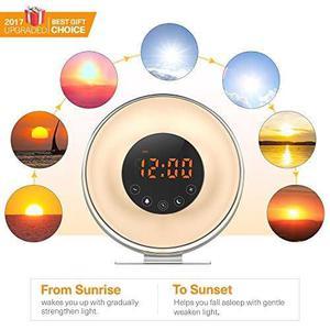 Wake Up Light Sunrise Reloj Despertador Digital [versión