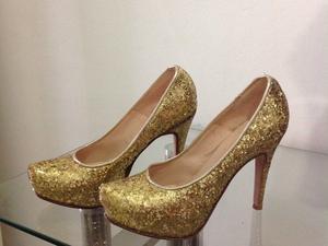 Zapatos dorados n* 36
