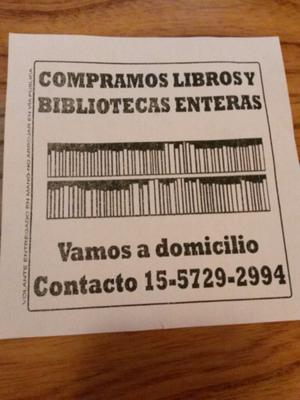COMPRO LIBROS USADOS Y BIBLIOTECAS ENTERAS