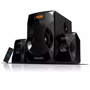 Parlante Philips Multimedia 2.1 Mmsf Fm 40w Usb Aux