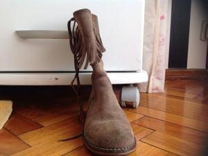 Botas gamuza marron de niñas