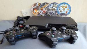 Consola Ps3 Slim 320 Gb + 2 Dualshock3 + Juegos De Regalo