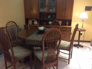 Mueble living comedor con mesa para rosario posot class for Mesa comedor ampliable