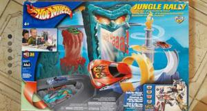Pista Hot Wheels Jungle Rally Completa Impecable