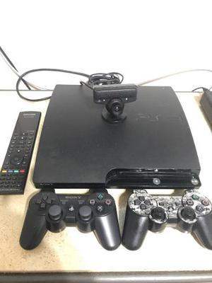 Play Station 3 Slim 120 Gb. 2 Wireless Controles, Cámara.