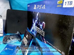 Ps4 Slim HDR,1Tb Star Wars Battlefront 2 Original Nueva
