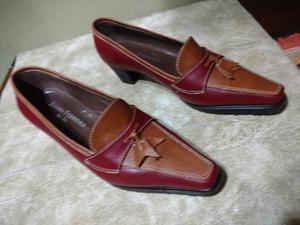 Zapatos Stilettos, Bordo Y Camel N° 36