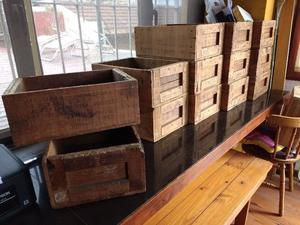 cajones de madera antiguos