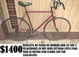 BICICLETA DE PASEO DE HOMBRE ROD 28