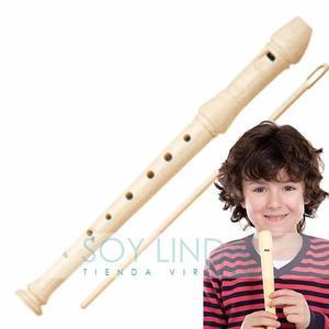 Flauta Dulce Ideal Para El Colegio Con Limpiador Calidad