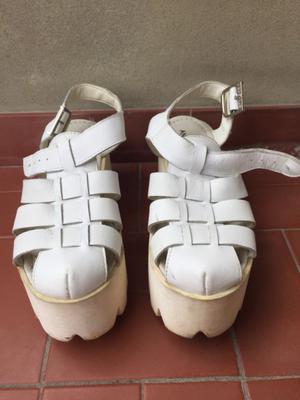 Sandalias marca Anca &Co de cuero N•36
