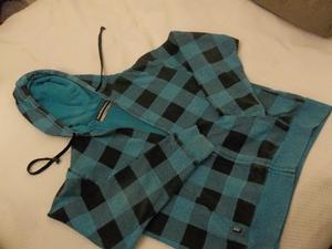 Campera de jogging con capucha y cierre de hombre talle M -